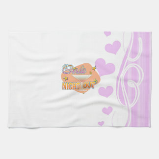 girls night out, last night out bachelorette party kitchen towels