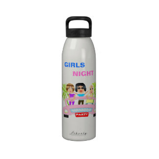 Girls Night Out Liberty Water  Bottle Drinking Bottles