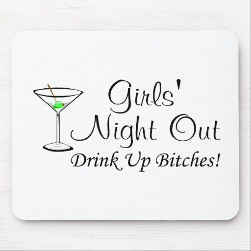 Girls Night Out Martini Mouse Pads