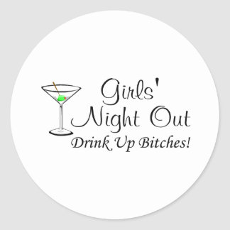 Girls Night Out Martini Stickers