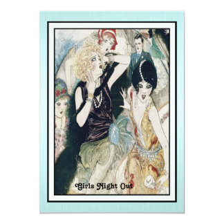 Girls Night Out Mayhem Vintage Art Deco Custom 13 Cm X 18 Cm Invitation Card