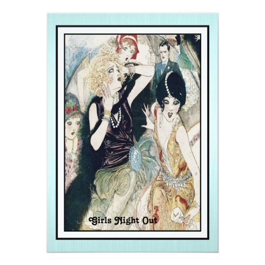Girls Night Out Mayhem Vintage Art Deco Custom