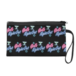 Girl's Night Out Party Pattern Wristlet
