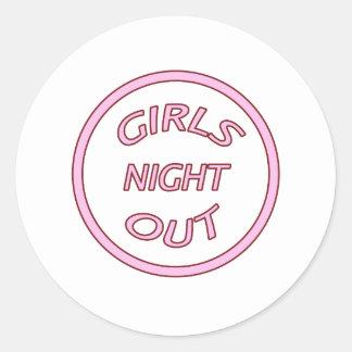 Girls Night Out Round Sticker