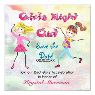 Girl's Night Out - Save the Date 13 Cm X 13 Cm Square Invitation Card