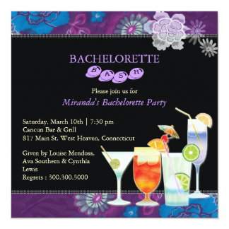 Girls Night Out Trendy Bachelorette Party 13 Cm X 13 Cm Square Invitation Card