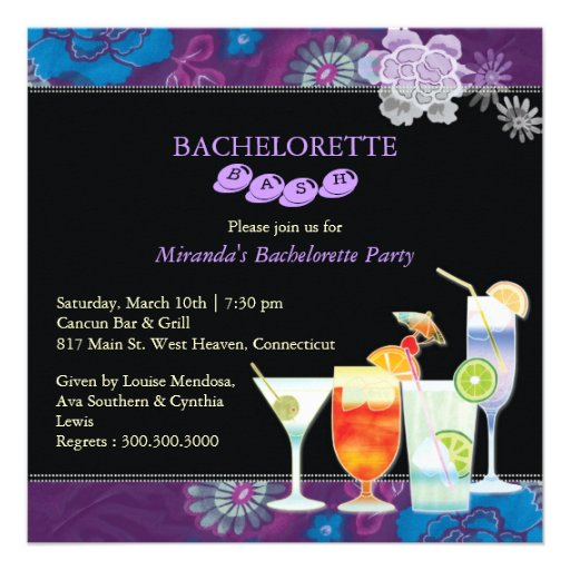 Girls Night Out Trendy Bachelorette Party Invites