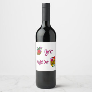 Girls' Night Out Tropical Cocktails Wine Label