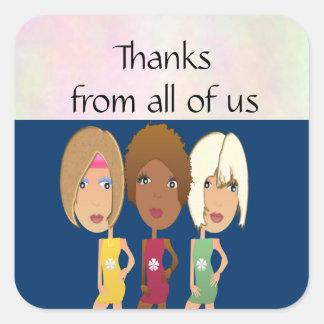Girls Night Thank You Stickers