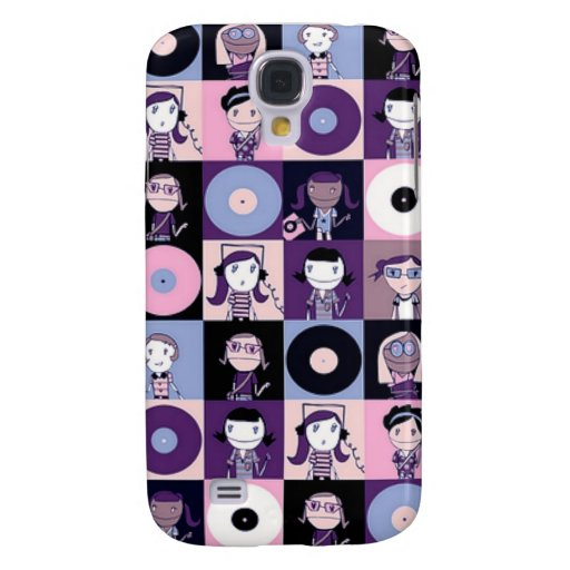 Girls of yesterday and their 45 rpm records galaxy s4 case