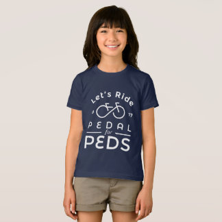 Girls Official 2017 Pedal For Peds T-Shirt