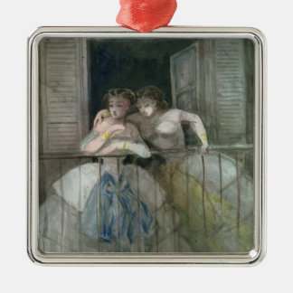 Girls on the Balcony, 1855-60 Christmas Ornament