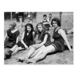 Girls on the Beach, early 1900s Post Card
