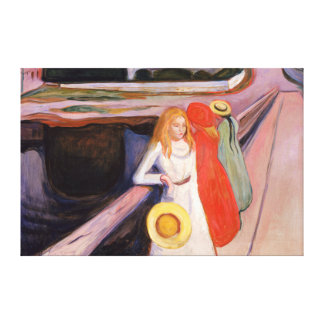 Girls on the Bridge Canvas Print