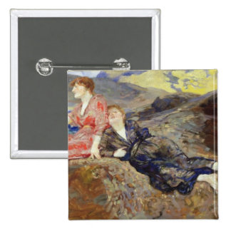 Girls on the Shore, c.1884-85 15 Cm Square Badge