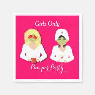 Girls Only Health and Beauty Pamper Party Disposable Serviette