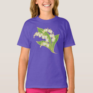 Girls Organic T-shirt: Lily of the Valley T-Shirt