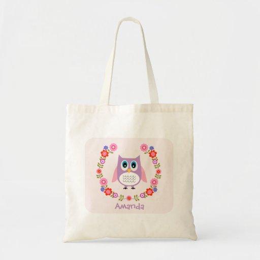 Girls Owl Tote Bag