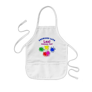 Girls Paintball Aprons with Paintball Splatters