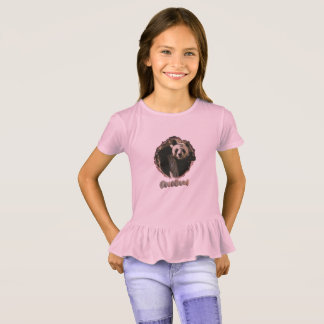 Girls panda ruffle tee. T-Shirt