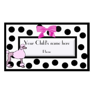 Girl's Paris high fashion calling card Pack Of Standard Business Cards