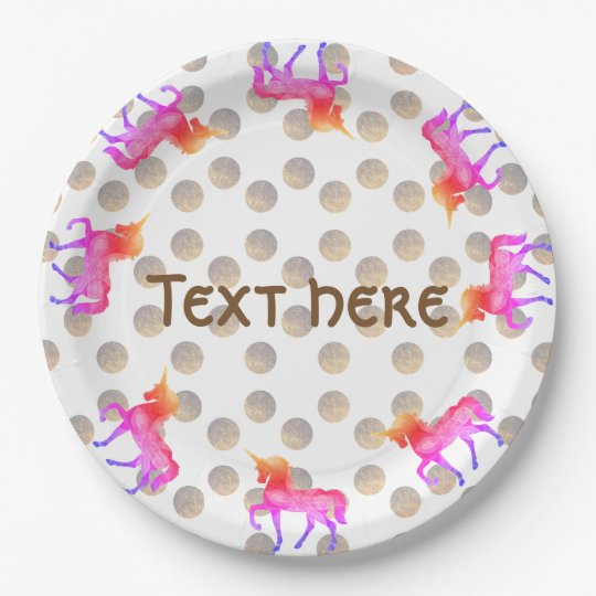 Girls Party Paper Plates