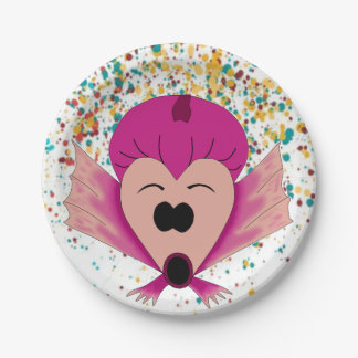 GIRLS' PARTY PLATE FOR CELEBRATION 7 INCH PAPER PLATE