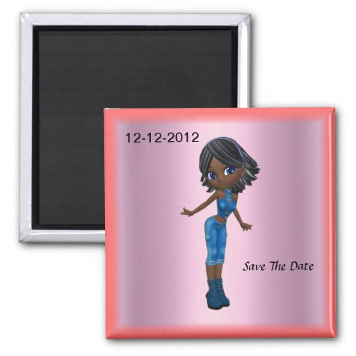 Girls Party Save the Date Magnet Refrigerator Magnets