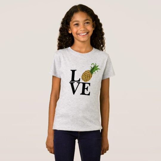 Girl's Pineapple Love T-Shirt