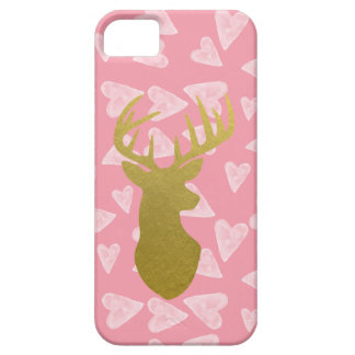 Girls Pink Stag iPhone 5 Case