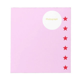 Girl's Pink Template Notepad
