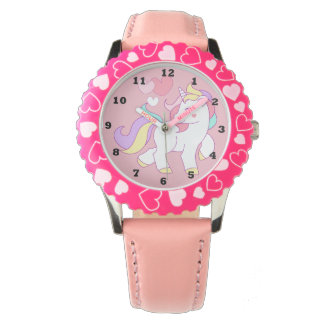 Girls Pink Unicorn Watch