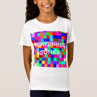 Girls Platenher Colour Club Tshirt White