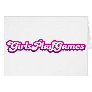 Girls Play Games - Gamer Geek Video Games Women Greeting Cards
