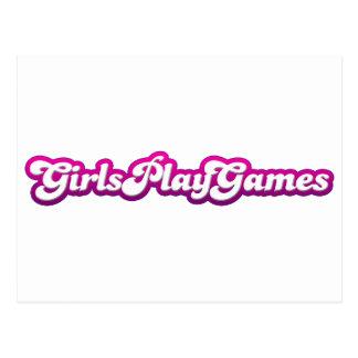 Girls Play Games - Gamer Geek Video Games Women Postcard