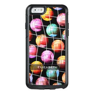 Girls' pop art multicolor volleyballs OtterBox iPhone 6/6s case