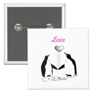 Girls Pretty Cute Penguin Love Birds Button Badge