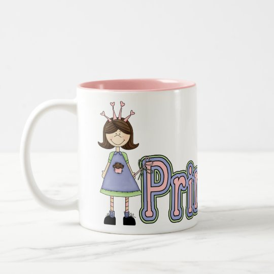 Girls Princess Birthday Mug - Princess Cupcake