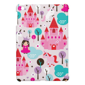 Girls princess castle and unicorn iphone case iPad mini cases