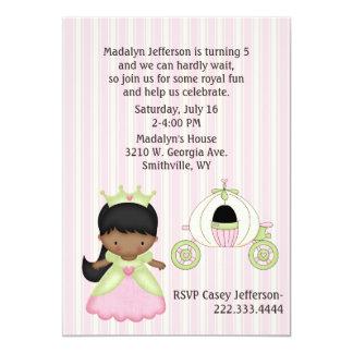 Girl's Princess & Coach Birthday Party Invitation