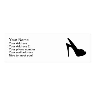 Girls pumps pack of skinny business cards