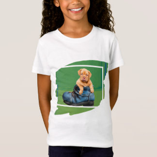 Girl's Puppy Dog T-Shirt with 4 frame colours !