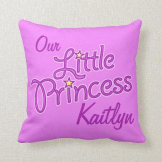 Girls purple star princess name & photo pillow