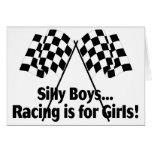 Girls Racing Greeting Card