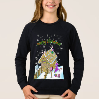 Girls' Raglan Sweatshirt, merry Christmas Sweatshirt