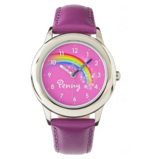 Girls rainbow name girls purple kids watch