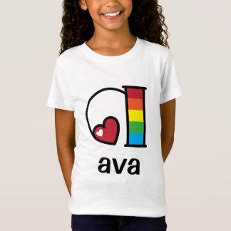 Girls Rainbow Top Rainbow Initial Shirt Monogram a