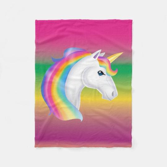 Girls Rainbow Unicorn Fleece