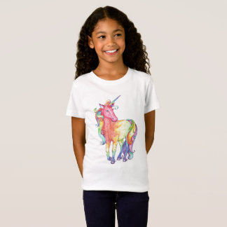 Girls Rainbow Unicorn T-shirt