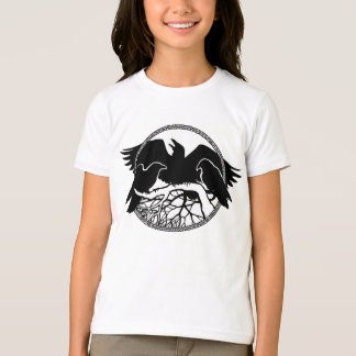 Girl's Raven Shirts Raven / Crow Art T-shirt